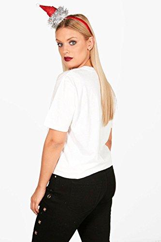 blanc Femmes Plus Claire T-shirt Grinch Xmas pocket officiel Blanc