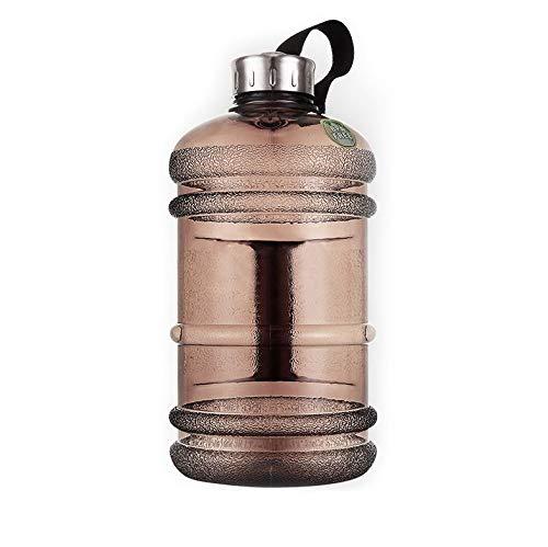 RZRCJ 2,2 L Große Kapazität Wasserflaschen Outdoor Sports Gym Halbe Gallone Fitnesstraining Camping Running Workout Wasserflasche (Capacity : 2.1L, Color : Black)
