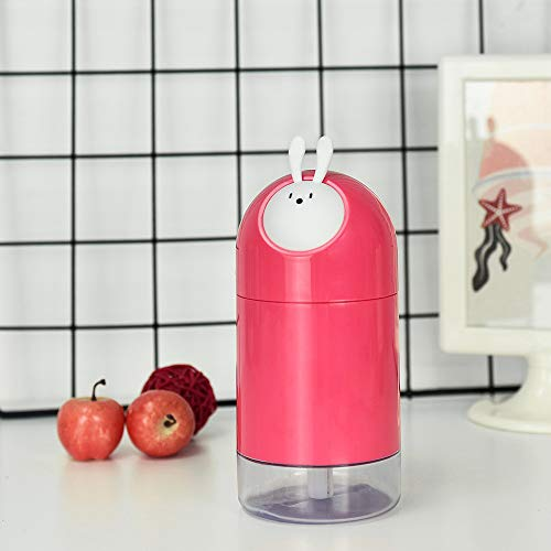 Free Star Animal Elf Humidifier USB Desktop Mini Air Purifier Gift with Hand Gift, Rose Red -