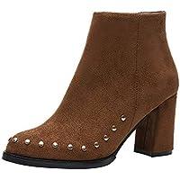 WWricotta Damen Stiefeletten Chelsea Boots mit Blockabsatz Profilsohle Kurzschaft Stiefel Freizeitschuhe Scrub... preisvergleich bei billige-tabletten.eu