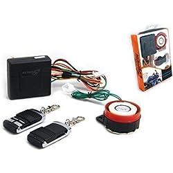 Sistema de Alarma Compacto12V 12 Voltios Universal para Moto Motocicleta Scooter Quad - No Intrusivo - Sin Cortar Cables Mando A Distancia