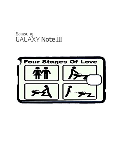 Four Stages of Love Mobile Cell Phone Case Samsung Note 3 Black Blanc