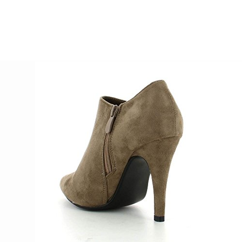 Ideal Shoes-Stiefel, mit weicher Haptik Platte métalisée Naela vorne Beige - Beige