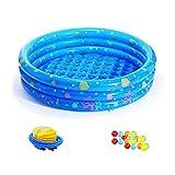 LYM & Vasca Gonfiabile Swim Pool Home Isolazione Ispessimento Vasca da Bagno Bambino Vasca Gonfiabile Piscina per Bambini Piscina per Bambini Adulti con Pompa a Pedale, Blu Vasca da Bagno