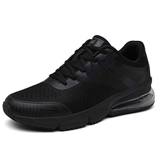 SOLLOMENSI Damen Herren Sportschuhe Laufschuhe Retwin Turnschuhe Straßenlaufschuhe mit Snake Optik Sneaker 39 EU C Schwarz