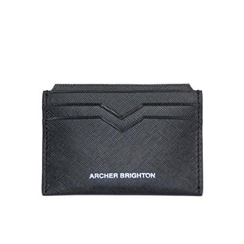 Archer Brighton Slim Saffiano-Leder Card Wallet -