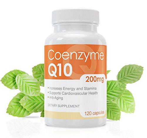 Coenzym Q10 Kapseln - 120 Stück je 200mg - hochdosiert - Made in Germany   Geld-zurück-Garantie   mehr Energie, Ausdauer & junge, gesunde Haut   unterstützt Herz-Kreislaufsystem, Nerven- & Immunsystem