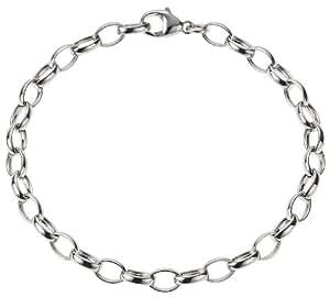 Zeeme Charms - 064260085R-19 - Bracelet Mixte en Argent 925/1000 - Maille anneaux attache Charm's - 19 cm