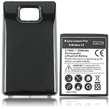 SMARTEX | Batteria maggiorata marca Smartex compatibile con Galaxy S2 / capacità 3500mAh / + cover Nera compatibile con i9100
