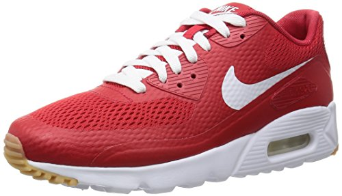 Nike Air Max 90 Ultra Essential, Baskets Homme, Bleu Rouge (rouge université / blanc - rouge université)
