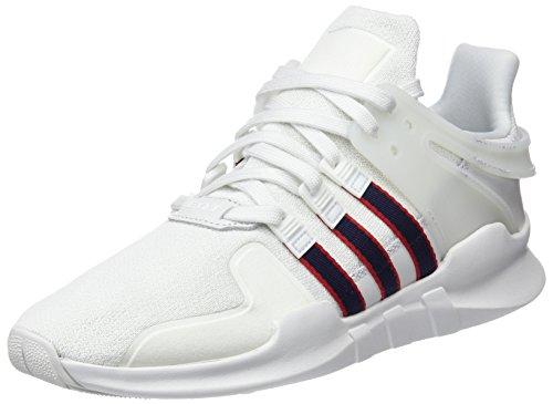 adidas Herren EQT Support ADV Sneaker, Weiß (Crystal White/Collegiate Navy/Scarlet), 43 1/3 EU (Crystal-nike Schuhe)