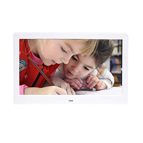 LWPCP 10.1 Zoll Digital Photo Frame, 1024 × 600 HD Picture Video-1080P Frame mit Motion Sensor, MP3-Musik, unterstützt Multiple File Formats und Externe USB-SD-Speicher,Black
