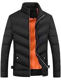 Abrigo Hombre Invierno,EUZeo, Caliente Hombre Moto Deportivas Cremalleras de Bolsillo Parka Chaqueta de