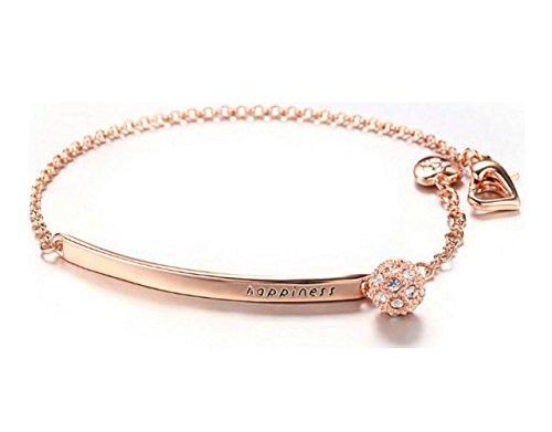 Fablcrew fashion braccialetto placcato oro rosa cristallo jewerly per donne regali di nozze
