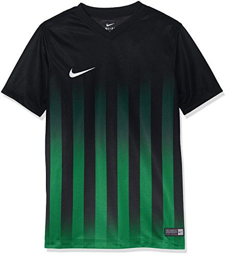 Nike Kinder Striped Division II SS Jersey Youth Trikot Black/Pine Green/White, XL Preisvergleich