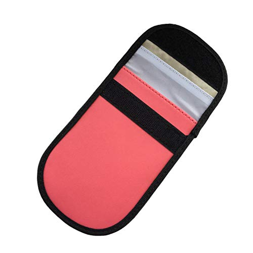 ulofpc Autoschlüssel Signal Blocker Fall Keyless Entry Fob Guard Signal Blocking Pouch Bag Anti-Diebstahlsicherung Gesunde Handy-Privatsphäre Sicherheit Sicherheit WiFi/GSM/LTE/NFC/RF-Blocker Handy Guard