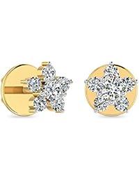 PC Jeweller The Pravanya 18KT Yellow Gold & Diamond Earring