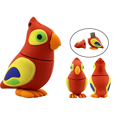 32GB Pen-Drive Cartoon Papagei Tier USB-Stick Pen Drive Vögel Pendrive Festplatte USB Memeory Geschenk für Festival