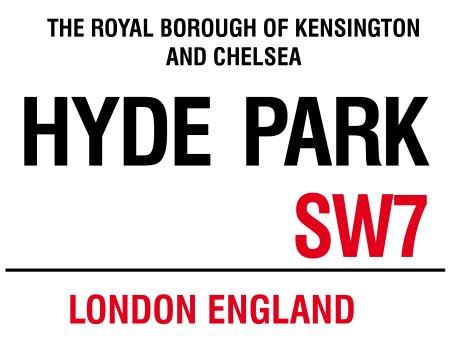 HYDE PARK London England Blechschild Stabil Flach Neu 30x40cm S2356
