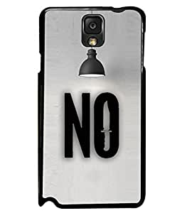 PRINTVISA Premium Metallic Insert Back Case Cover for Samsung Galaxy Note 3 - N7000 - D5867