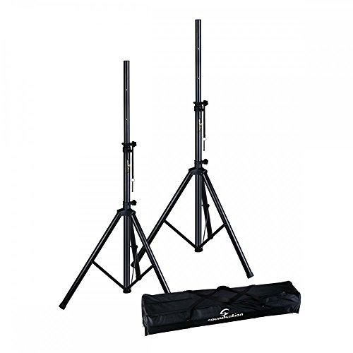 Soundsation Coppia di supporti per diffusori/speaker con borsa per il trasporto