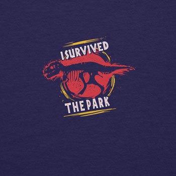 Planet Nerd - I survived the Park - Herren Langarm T-Shirt Dunkelblau