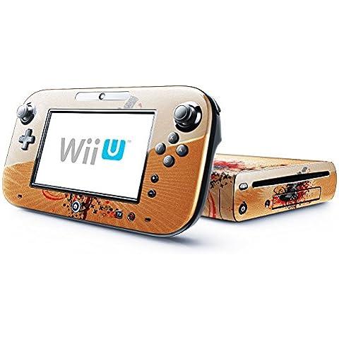 Mia Musica 10020, Chitarra, Skin Autoadesivo Sticker Adesivi Pelle Cover Decal Set con Disegno Strutturato con Nintendo Wii U