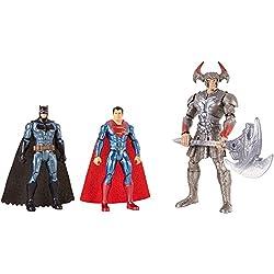 Liga de la justicia acción fgg57Batman Steppenwolf Superman cifras, pack de 3