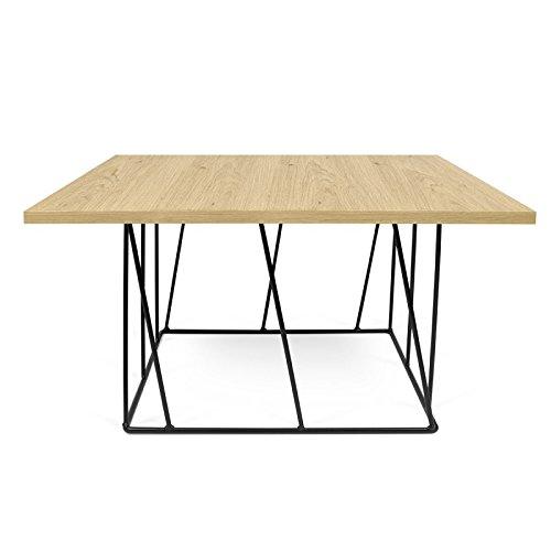 Paris Prix - Temahome - Table Basse Helix 75cm Chêne & Métal Noir