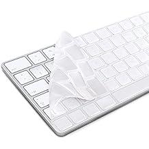 kwmobile protector de silicona para el teclado QWERTZ (Alemania) para Apple Magic Keyboard en transparente