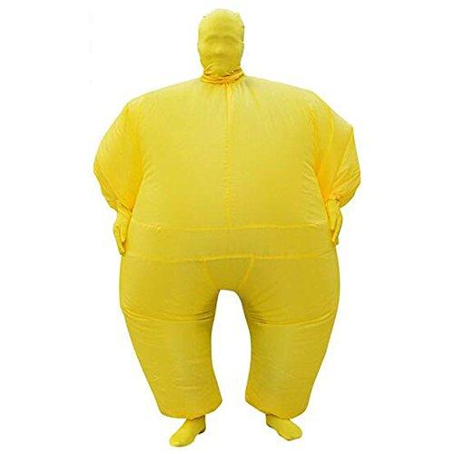 THEE Aufblasbares Kostüm Japan Sumo für Halloween Karneval Fastnacht Fasching Erwachsene Fett Anzug