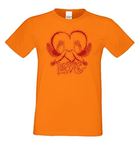 Romantische Valentinstag-Geschenkidee-T-Shirt-Männer Love Farbe: orange Orange