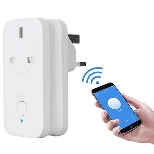 WiFi Smart Plug, foluu UK WiFi Plug Wireless-Buchse Timer Fernbedienung von Smartphone Stimme Control Amazon Echo & Google Home ifttt von überall kabellos Schalter kein Hub erforderlich