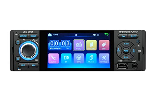 Y&Jack Car 4.1 Inch Touch Screen Bluetooth Auto Mp5 Player Car U Disk Card Machine Detachable Front Panel, Wireless Remote Control - Wireless-control-panel