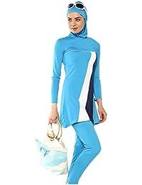 dfcf0deeee9 nadamuSun Modest Muslim Swimwear Islamic Swimsuit for Women Hijab Swimwear  Full Coverage Swimwear Muslim Swimming Beachwear