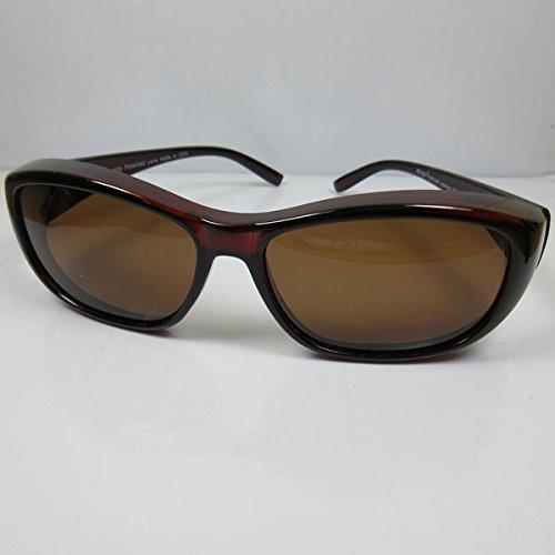 REVEX polarisierte Überbrille Sonnenbrille für Brillenträger braun CAT3