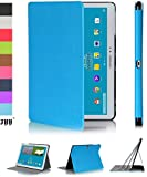 Galaxy Tab Pro 10.1 inch Case Cover, Fyy® Ultra Slim Magnetic Smart Cover Multi-Angle Case for Samsung Galaxy Tab Pro 10.1-inch Cyan (With Auto Wake/Sleep Feature)