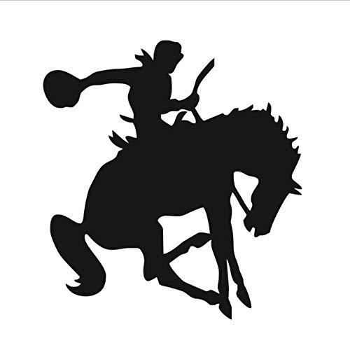 captain_y Wandsticker Western Reiter Reiten Pferd Wandaufkleber Kinderzimmer Vinyl Abnehmbare Sattel Up Silhouette DIY Home Decor Schlafzimmer Wandtattoo Schablone 58X62 cm (Pferd Sättel Western)