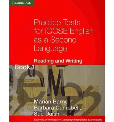 Practice Tests for IGCSE English as a Second Language: Reading and Writing Book 1: Bk. 1 (Georgian Press) (Paperback) - Common