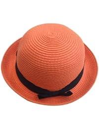 JTC Womens Ladies Sun Bowler Hat Summer Straw Hat Caps Head Wear 6 Colors