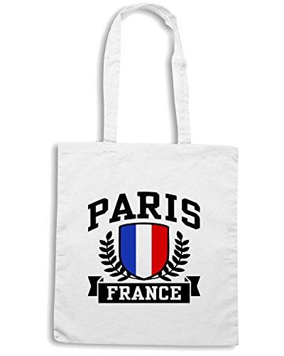 T-Shirtshock - Borsa Shopping TSTEM0075 paris france Bianco
