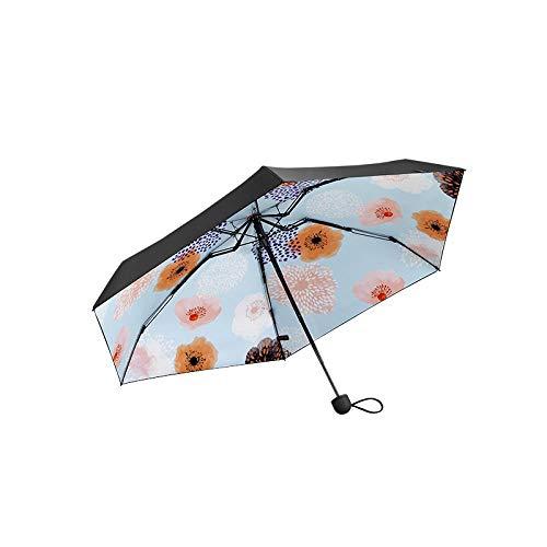 Solarschirm Falten Anti-UV-Regenschirm Sonnenschirm Mini-Taschenschirm, Qing Qing