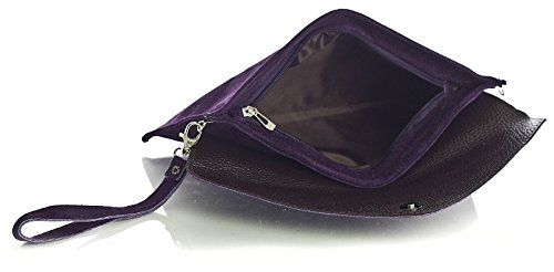 Big Handbag Shop, Borsetta da polso donna One Viola (Dark Purple)