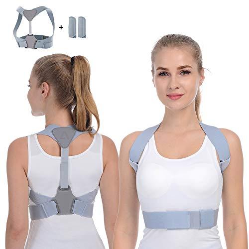 Anoopsyche Haltungskorrektur Geradehalter zur Haltungskorrektur Haltungstrainer ideal zur Therapie für haltungsbedingte Nacken,Rücken und Schulterschmerzen für Damen und Herren(mit 2 Schulterpolster)