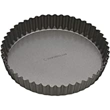 """MasterClass Non-Stick Fluted Flan Tin / Quiche Pan with Loose Base, 25 cm (10"""")"""