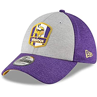 New Era NFL Minnesota Vikings Authentic 2018 Sideline 39THIRTY Stretch Fit Road Cap, Größe :S/M