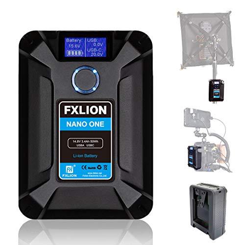 Moman FXLION V-Mount Batería Cargador 13600mAh50Wh/14.8V