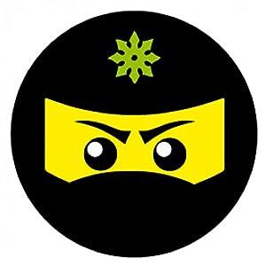 1art1 109097 Gaming - Ninja Icon, Grün Poster-Sticker Tattoo Aufkleber 9 x 9 cm