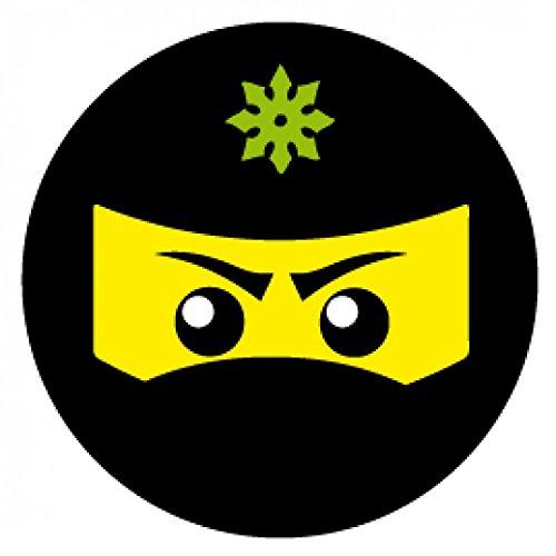 - Ninja Icon, Grün Poster-Sticker Tattoo Aufkleber 9 x 9 cm ()