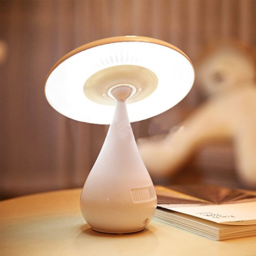 Noeloy® Lámpara Led USB Nocturna,recargable 3w,Lámpara de infantil Con Purificador del aire, Diseño moderno y divertido Seta,Color Blanco.